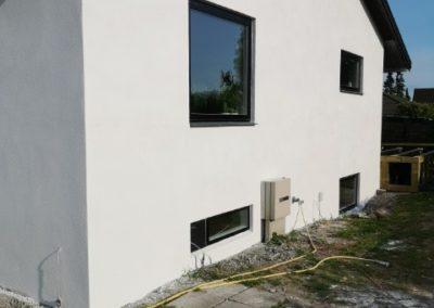 Badeværelse, facadepudsning